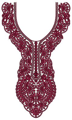 9748 Neck Embrodery Design