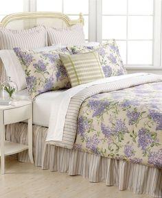 Ralph Lauren Cape Elizabeth Euro Sham Lilac Purple Stripe 100% Cotton - $100 #RalphLauren