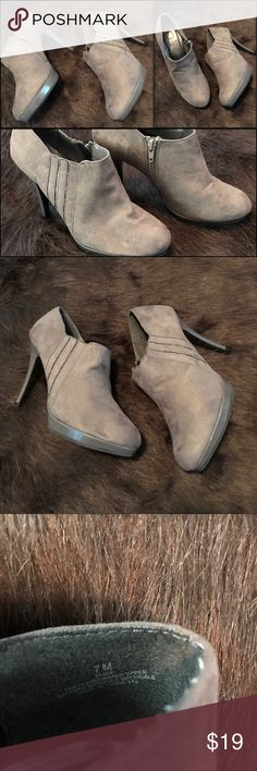 Pretty Booties Ankle Boot Heels Suede. Sexy High Heels. Great pair of shoes to pair with skinny Jeans, leggings or skirt/dress. inpo Shoes Ankle Boots & Booties