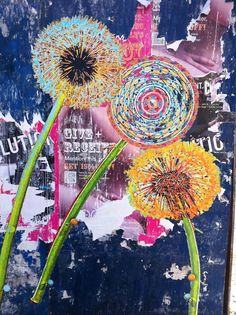 Boho Hippie Wallpapers - Oh my Dior Mixed Media Journal, Mixed Media Collage, Collage Art, Art Journal Pages, Art Journals, Hippie Wallpaper, Dandelion Art, Art Journal Inspiration, Altered Art