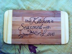 Kitchen cutting board  by bitchNstitch2013 on Etsy