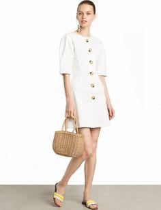What to wear on vacation-Pixie Market Noah Ecru Big Button Dress Tie Front Dress, Tie Dress, Shirt Dress, Cute Summer Dresses, Cute Dresses, High Fashion Dresses, Fashion Outfits, Fashion Advice, Fashion Bloggers