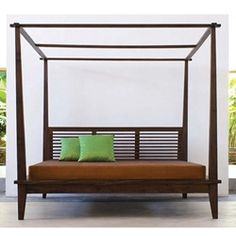 We gave our Komodo Platform Bed an even more regal look by turning it into the Komodo Canopy Platform Bed! The canopy works with any standard bed canopy, giving the bed an even more elegant look. Asian Platform Beds, California Bedroom, California King Mattress, Contemporary Bedroom Decor, Modern Bedroom Furniture, Furniture Ideas, Bed Frame Sizes, Bed Sizes, Furniture