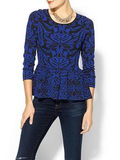 Pim + Larkin Intarsia Peplum Sweater | Piperlime