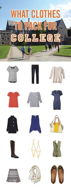 What clothes to pack for college - checklist and styling tips