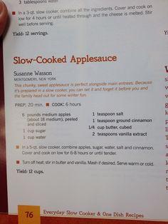 Applesauce in Crockpot