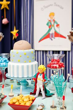 Pequeno Principe Prince Birthday Party, 1st Boy Birthday, Birthday Parties, Little Prince Party, The Little Prince, Baby Birthday Decorations, Prince Cake, Baby Party, Princess Party