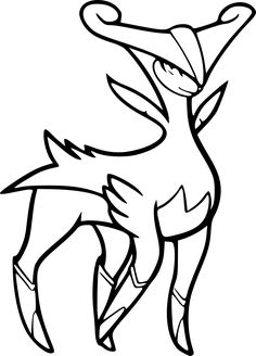 Play-The.NET - Coloriage De Pokemon Legendaire - Dessins en Noir ...