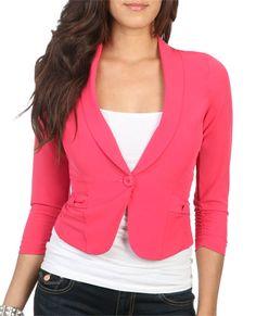 Pink blazer!<3
