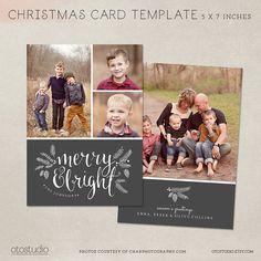 Christmas Card Template Photoshop Template X Flat Card Gold - Christmas card templates for photographers 2