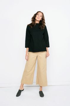 Florence Pant in Cotton Canvas