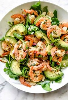 Shrimp avocado salad - Recipes Cottage