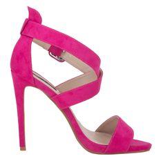 Hoge Sandalen met stiletto hak- roze