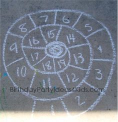 Sidewalk chalk games and activities - 30 things to do with sidewalk chalk.