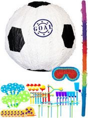 Goal Soccer Ball Pinata Kit with Favors