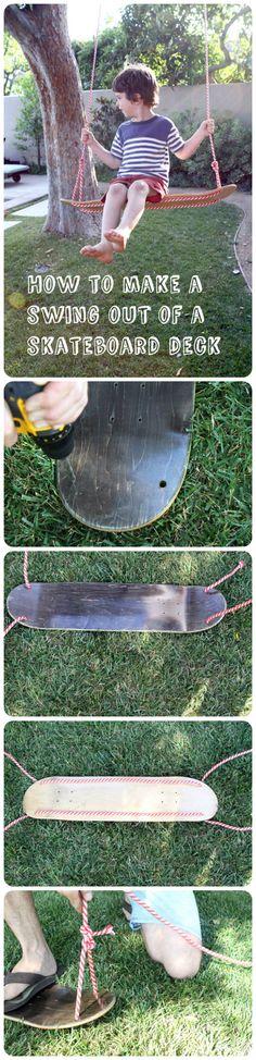 Repurposed skateboard deck !