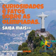 Faltam 3 dias para os jogos olímpicos! Conheça neste artigo curiosidades e fatos sobre as olimpíadas 2016. Confira: http://ow.ly/4Zca302Lnhx #jogosolimpicos #olimpiadas #rio2016 #olimpiadas2016 #brasil #curiosidades #maiscuriosidades #megacurioso
