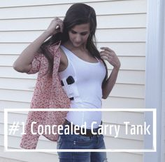 "The #1 Concealed Carry Tank Top for Women. made in the USA by Undertech Undercover. ""Why Carry Your Gun? When You Can Wear It!"" CCW, Concealed Carry Holster, Concealed Carry Shirt, Concealed Carry Clothing"