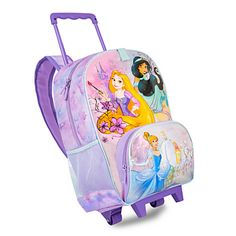 Disney Princess Rolling Backpack - Personalizable | Disney StoreDisney Princess Rolling Backpack - Personalizable - Ideal for school and journeys to lands faraway, our Disney Princess rolling backpack makes every outing feel like play! Designed for curious little explorers, its perfect size and wheeled design make for a daily adventure essential.