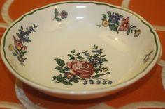 Villeroy Boch Alt Strassburg Fruit Dessert Bowls No 3 Green Trim Flower Set of 4  | eBay