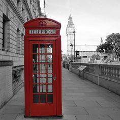 Típica cabina telefónica de Londres.