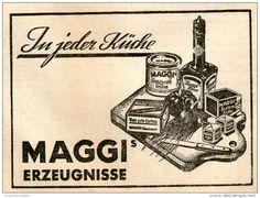 Original-Werbung/ Anzeige 1950 : MAGGI ERZEUGNISSE - ca  115 x 80 mm
