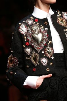THIS FABULOUS JACKET WITH SILVER HEARTS ON IT IS BY ANA ROSA