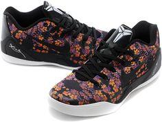 Nike Zoom Kobe 9 Flower Black White Purple Orange1