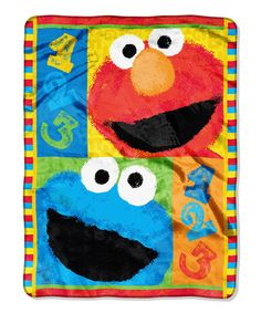 Elmo and Cookie Monster blanket