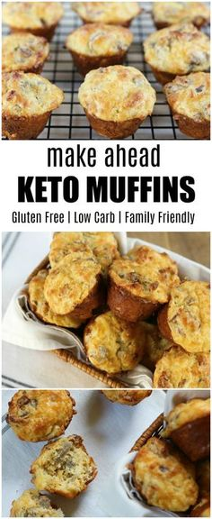 Our keto muffin recipe is an excellent breakfast choice or quick snack through out the day. They freeze well and can be easily reheated. low carb family friendly recipe keto freezer meals menu planning make ahead bacon sausage cheese breakfast