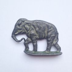 Vintage antique old lead metal elephant by GalabeerandtheDog