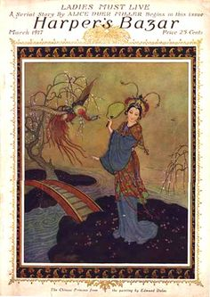 "Harper's Bazar 1917-03, ""The Chinese Princess"" from the painting by Edmund Dulac."