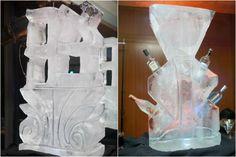Hebrew Ahava Ice Sculpture & Martini Ice Block - Bar Mitzvah Party NYC by 5th Avenue Digital - mazelmoments.com