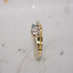 Mokumegane Wedding Ring 木目金の婚約指輪