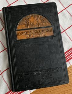 A favorite recipe book from the shop for it's lovely embossed cover and the hundreds of recipes that were contributed by 1930s homemakers nationwide. 1930s Kitchen, Homemaking, Household, Card Holder, Favorite Recipes, Cover, Books, Cards, Libros