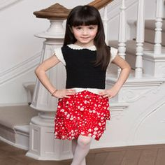 Girl's Ruffled Party Dress