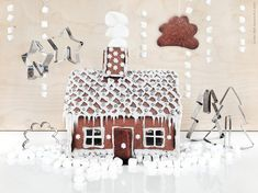 House building with gingerbread flavor! - Life at home - My Website 2020 Ikea Christmas, Blue Christmas, Christmas 2017, Rustic Christmas, Christmas Baking, Christmas Projects, Winter Christmas, All Things Christmas, Christmas Time