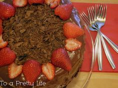 To A Pretty Life: The Died-And-Gone-To-Heaven Chocolate Cake