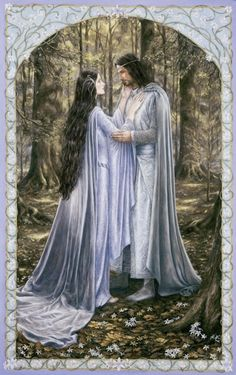 Arwen and Aragorn ... love this painting.