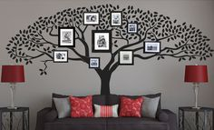 Photo Tree Wall Decal - Wall Decal from quirkeewalls. Vibeke Design, Family Tree Wall, Family Trees, Family Room, Creative Walls, Photo Tree, Cool Walls, Vinyl Wall Decals, Wall Stickers