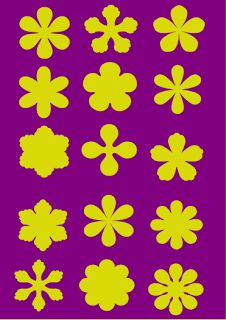 MTCSCAL e-files: 15 flower shapes...