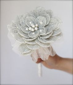 Pearl and Bead Bouquet $220.00   # Pin++ for Pinterest #