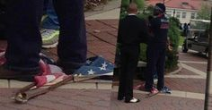 Veteran detained after forcefully removing American flag from desecration