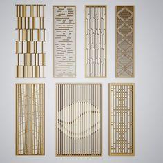 现代屏风隔断- 建E网3d模型分享交流平台-3d模型下载-3d模型下载网站 Window Grill Design, Screen Design, Facade Design, Door Design, Floor Screen, Partition Screen, Metal Screen, Decorative Room Dividers, Decorative Panels