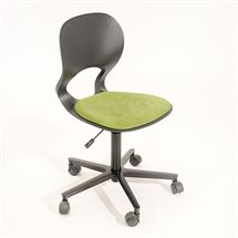 Kontorstol. Ergomade Panda. Sort  Grønt sæde.