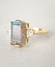 Anna Sheffield Labradorite Bea Ring