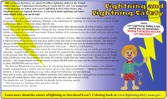 Multiple text structures, digital text about lightning.