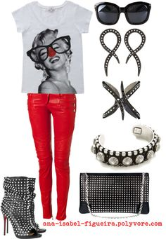"""""""Red Nose"""" by ana-isabel-figueira on Polyvore"""