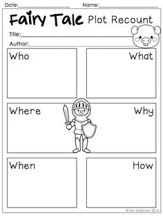 Fairy Tale Printables to be used with ANY fairy tale!
