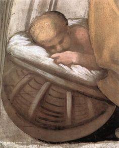 ❤ - MICHELANGELO BUONARROTI - (1475 - 1564) - Sistine Chapel - Ancestors of Christ - Hezekiah-Manasseh-Amon (detail).